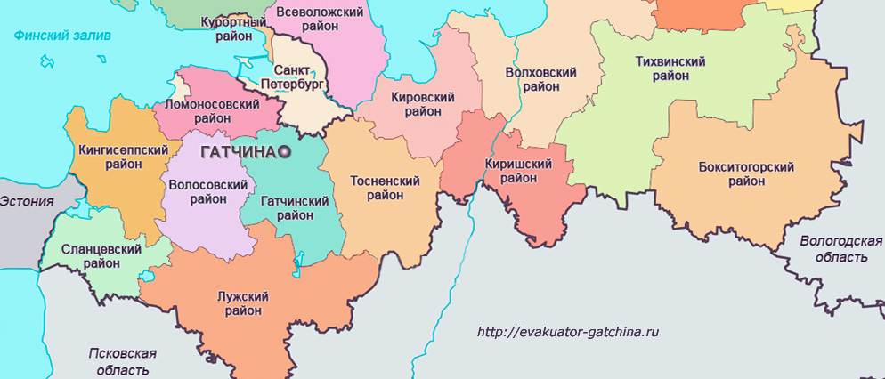 Ленинградская область карта